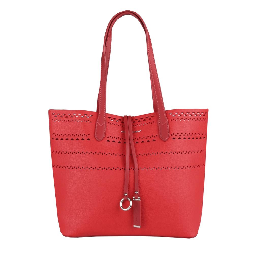 David Jones Paris Dámská kabelka přes rameno 5905-2 - červená