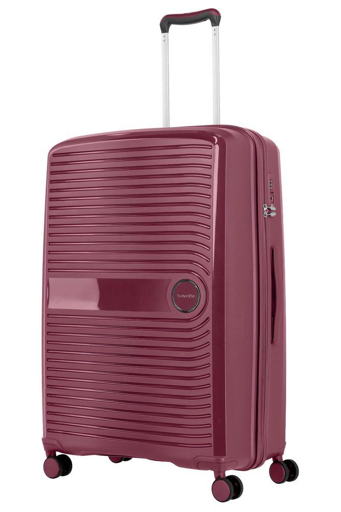 Travelite Skořepinový cestovní kufr Ceris L Blackberry 100 l