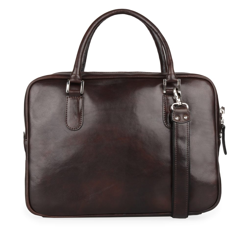 Sněžka Náchod Dámská kožená taška do ruky 5101 - tmavě hnědá