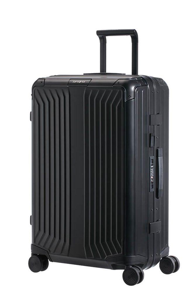 Samsonite Hliníkový cestovní kufr Lite-Box Alu M 71 l - černá