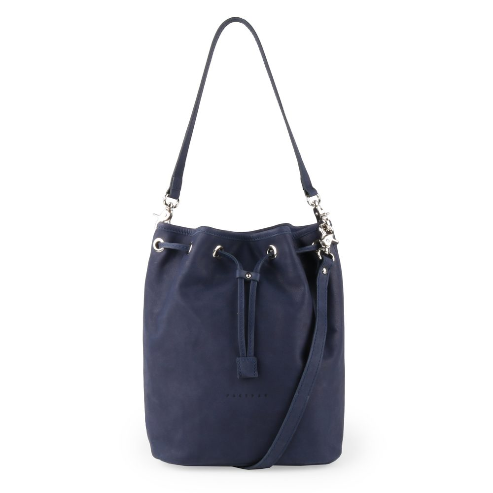 Unidax Dámská kožená kabelka přes rameno vintage Facebag Luisa 8030 - modrá