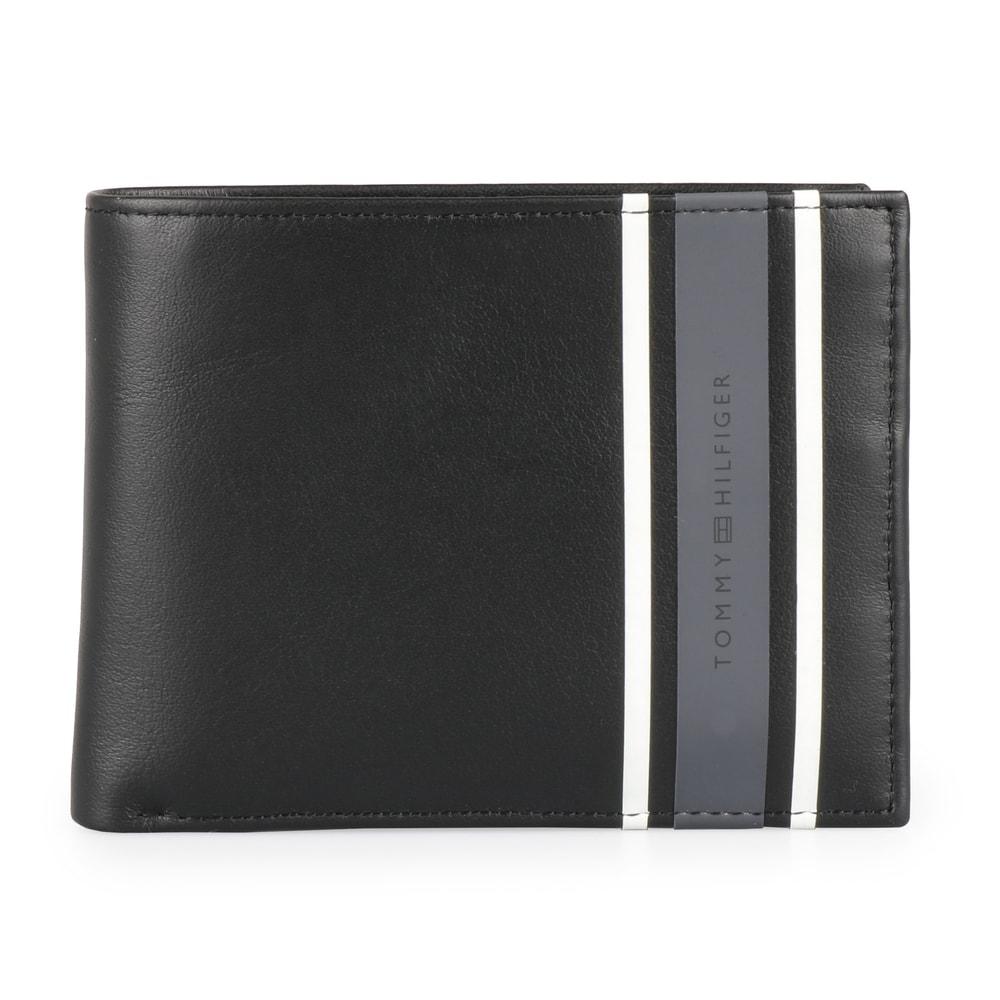 Tommy Hilfiger Pánská kožená peněženka Urban Stripe AM0AM04211 - černá