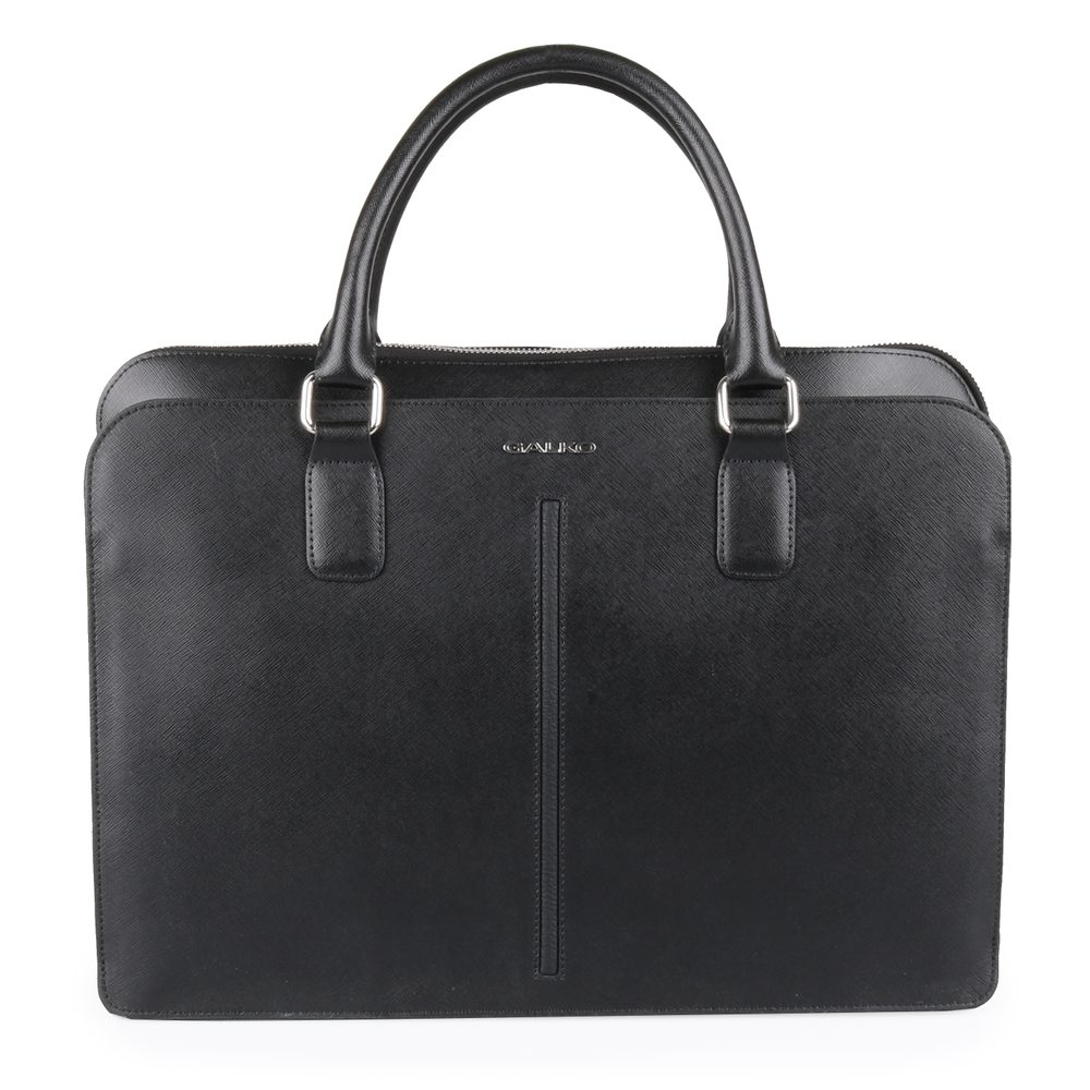 GALKO Dámská kožená taška na notebook 13-0558 - černá