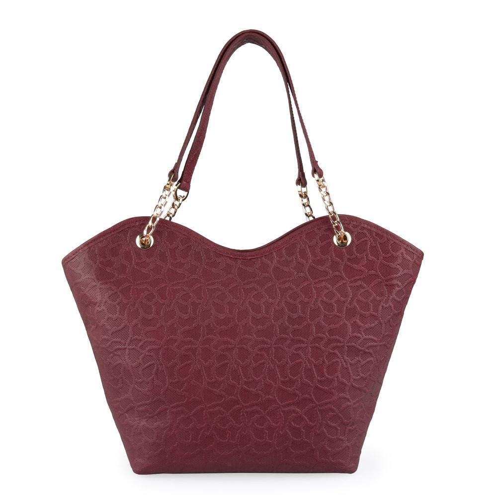 Elega Dámská kožená kabelka přes rameno Dorothy 69396 - vínová