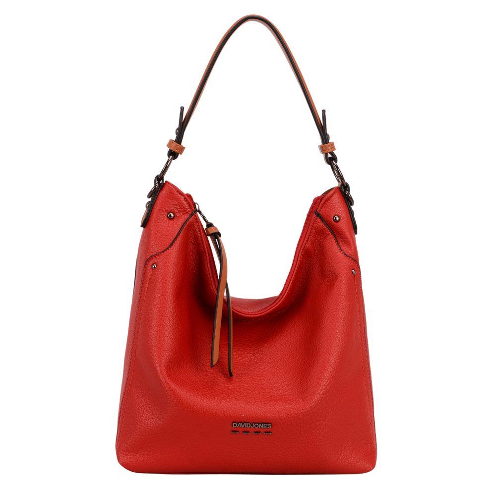 David Jones Paris Dámská kabelka přes rameno 6210-2 - červená