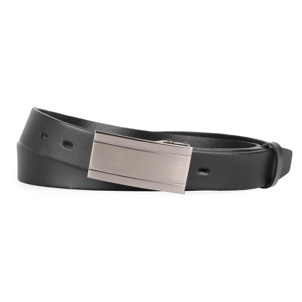 Penny Belts Pánský kožený opasek 30/100/6PS, černý - 105