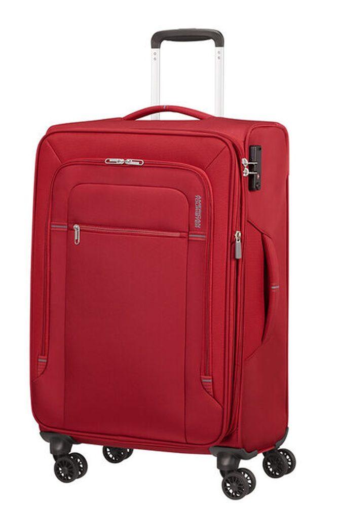 Levně American Tourister Látkový cestovní kufr Crosstrack EXP M 71,5/77 l - červená