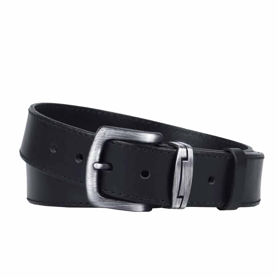 Penny Belts Pánský kožený opasek 09/1, černý - 105