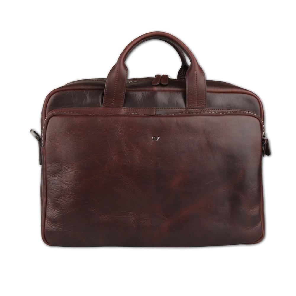 Braun Büffel Pánská kožená taška přes rameno Parma 75366-662 - tmavě hnědá