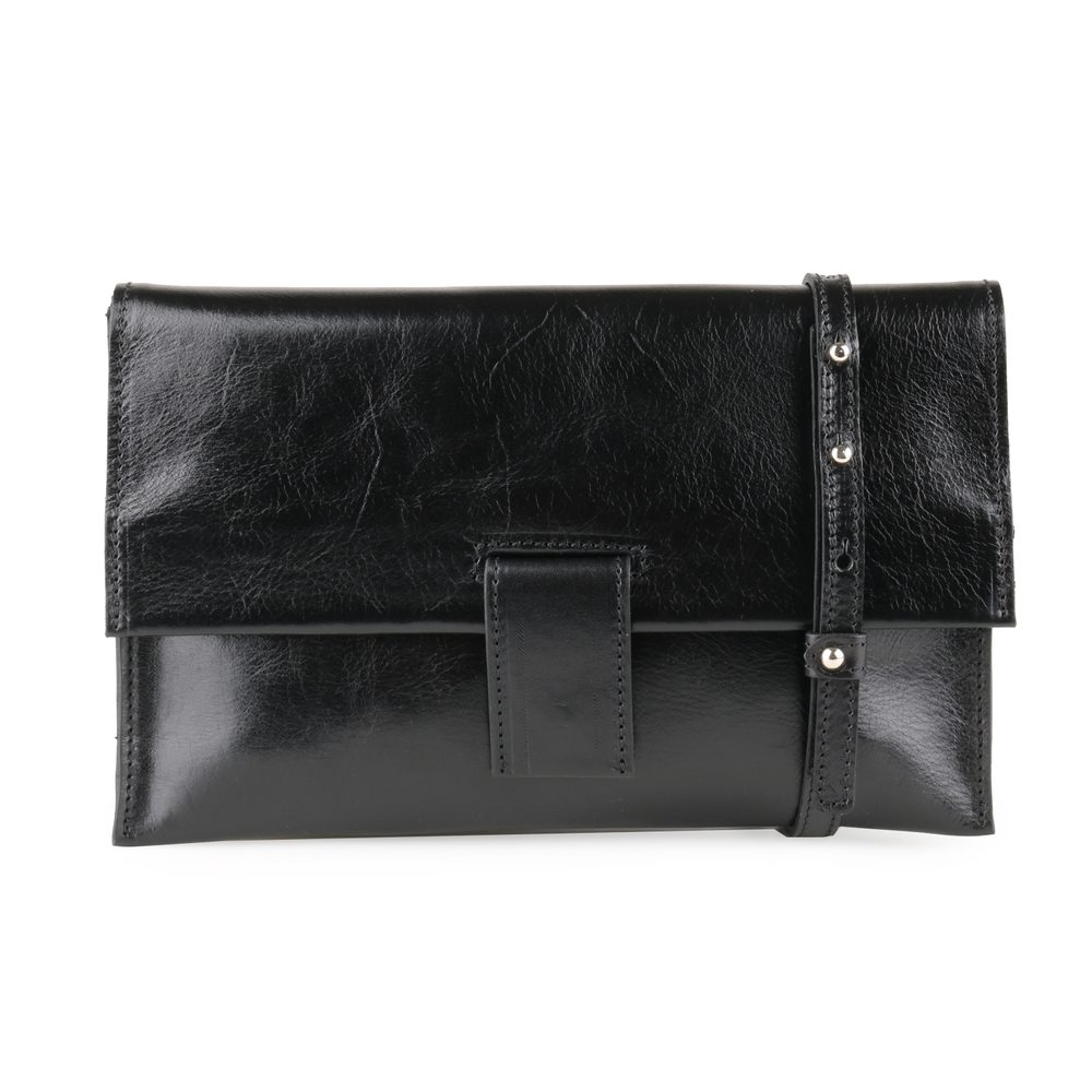 Sněžka Náchod Dámská kožená kabelka 5058 - černá