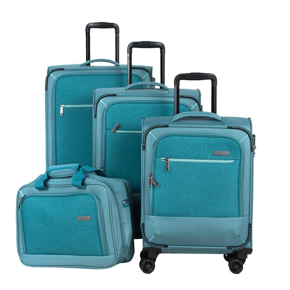 Travelite Sada cestovních kufrů a palubní tašky Arona S + M + L Aqua