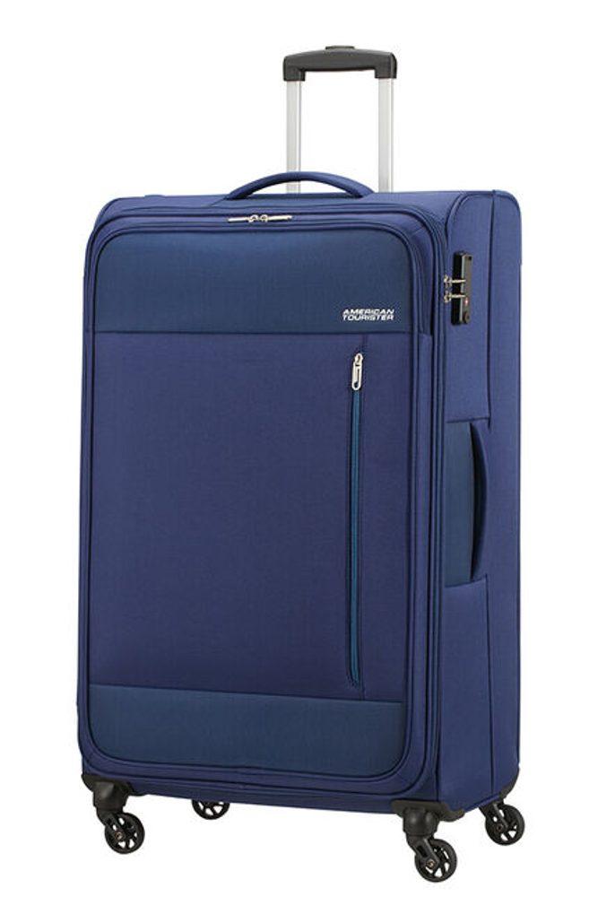 American Tourister Látkový cestovní kufr Heat Wave L 92 l - modrá