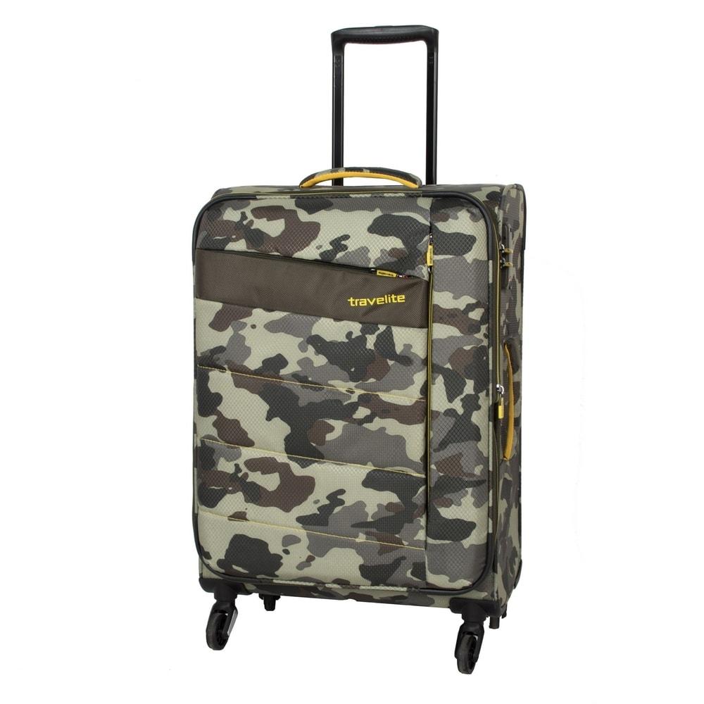 Travelite Cestovní kufr Kite 4w M Camouflage 89948-86 67/77 l