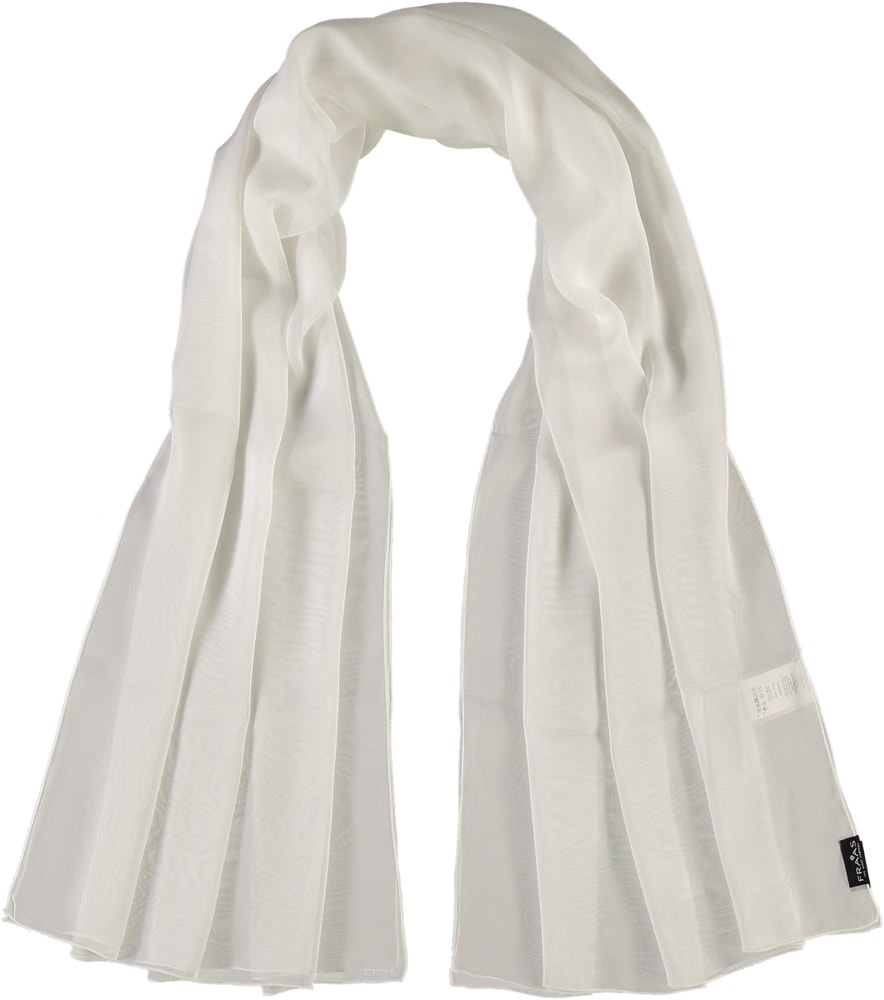 Fraas Dámský hedvábný obdélníkový šátek 622180 - bílá