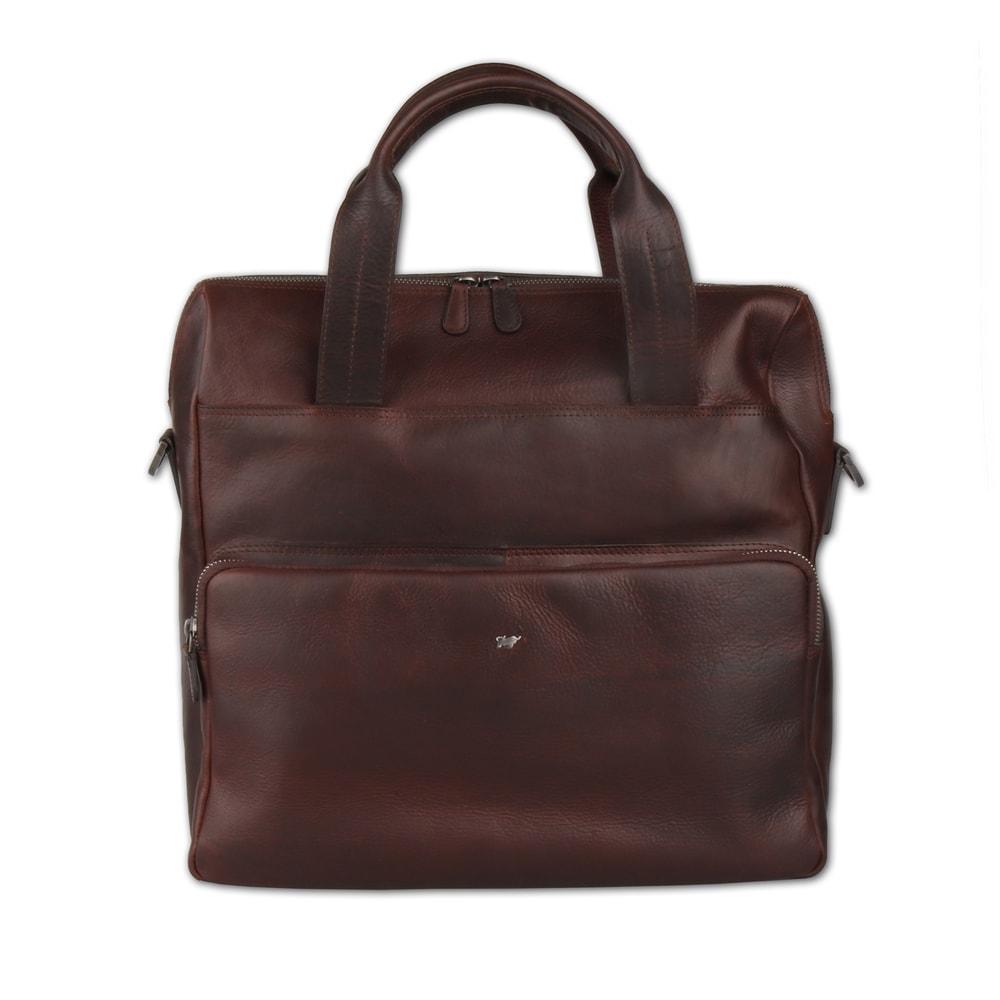 Braun Büffel Pánská kožená taška přes rameno Parma 75368-662 - tmavě hnědá