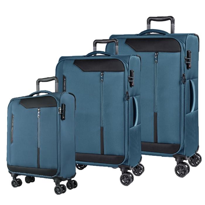 March Sada cestovních kufrů Stardust S + M + L, modrá