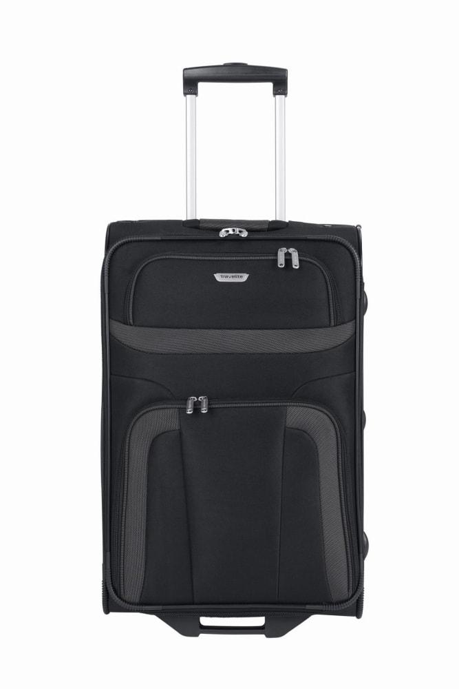 Travelite Látkový cestovní kufr Orlando M Black 58 l