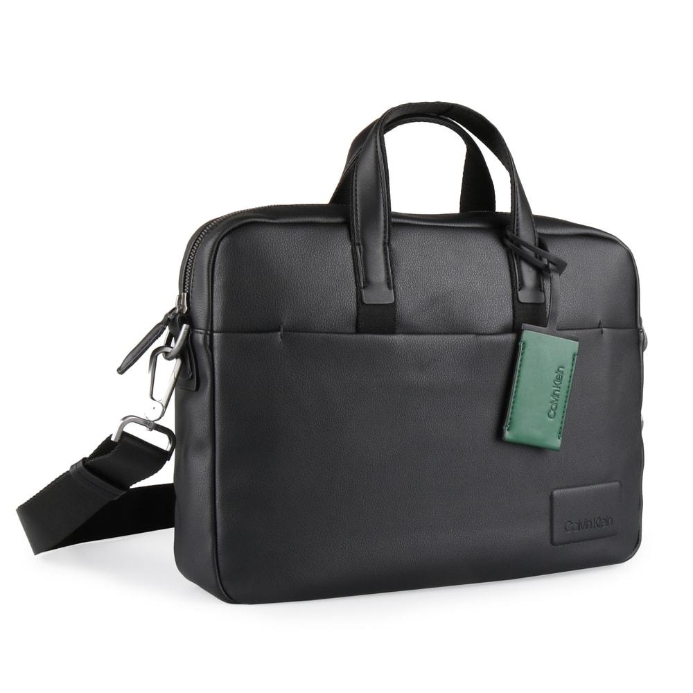 Calvin Klein Pánská taška na notebook Task Force 1 Gusset K50K503845 - černá