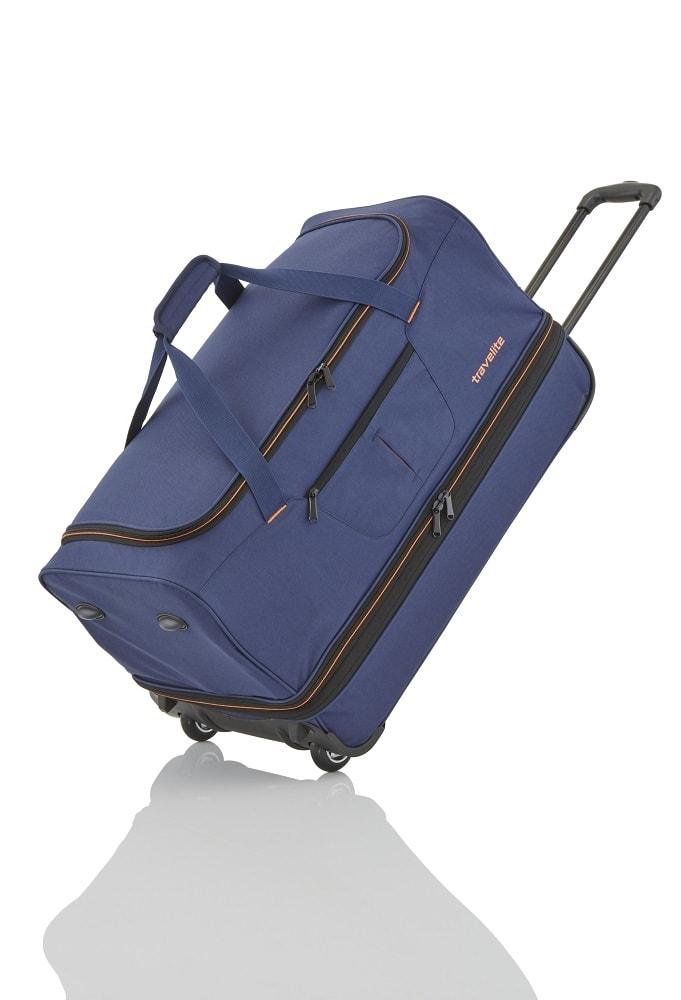 Travelite Cestovní taška na kolečkách Basics L Navy/orange 98/119 l