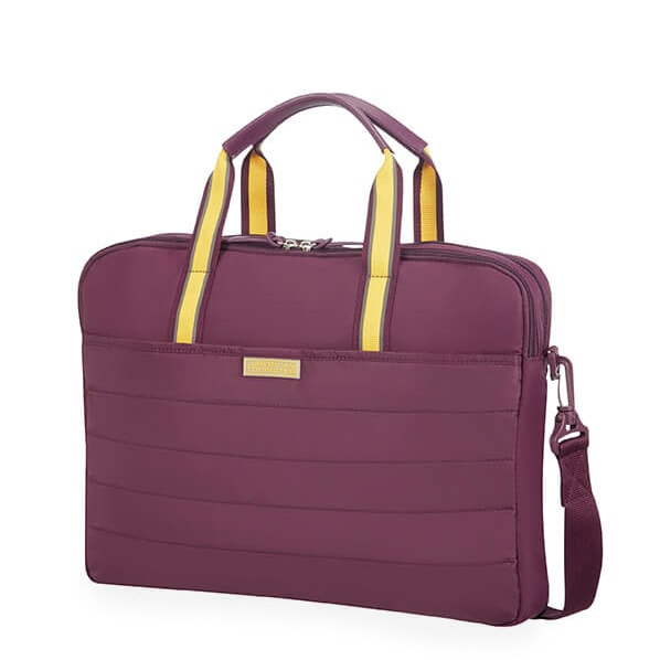 """American Tourister Dámská taška na notebook Uptown Vibes 64G 15.6"""" - fialová"""