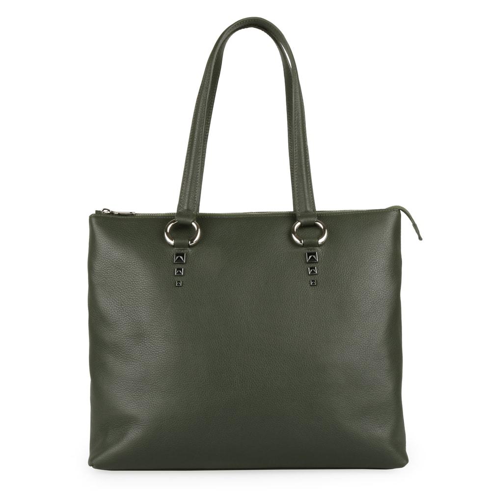 Elega by Dana M Dámská kožená shopper kabelka Maternity 69452 - zelená
