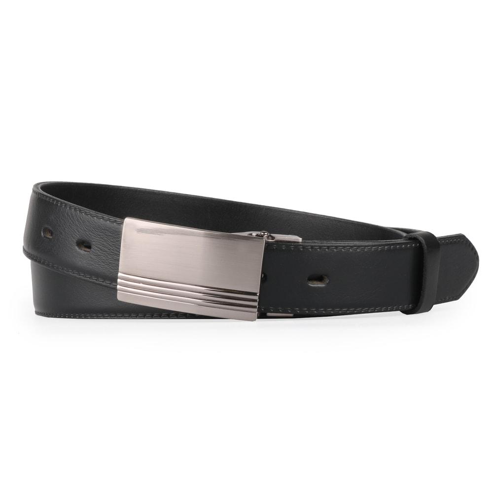 Penny Belts Pánský kožený opasek 30-020-2PS, černý - 100