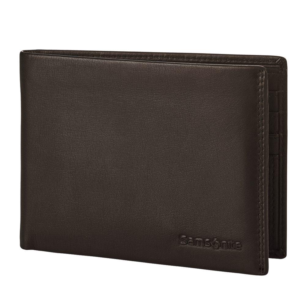 Samsonite Pánská kožená peněženka Attack 2 SLG 005 - tmavě hnědá
