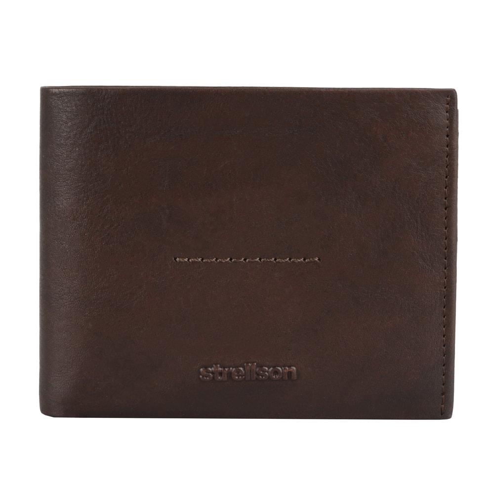 Strellson Pánská kožená peněženka Coleman 2.0 4010002555 - tmavě hnědá
