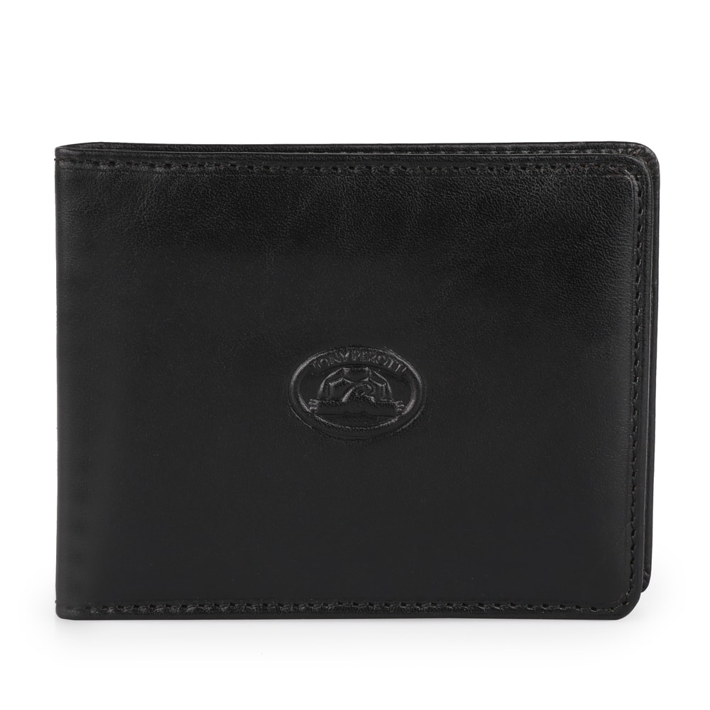 Tony Perotti Kožená peněženka se sponou Italico 2526 - černá