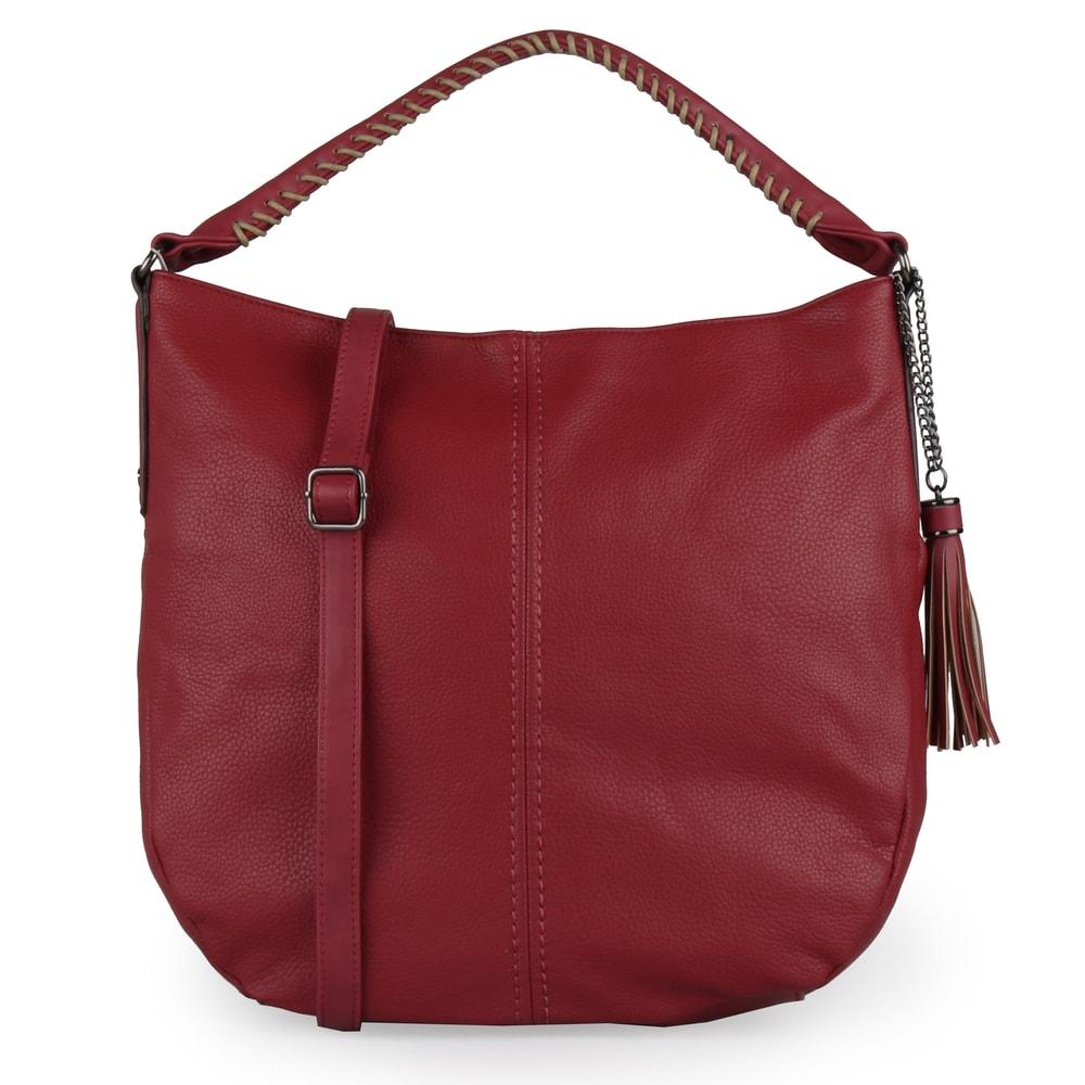 David Jones Paris Dámská kabelka přes rameno CM5397A - tmavě červená