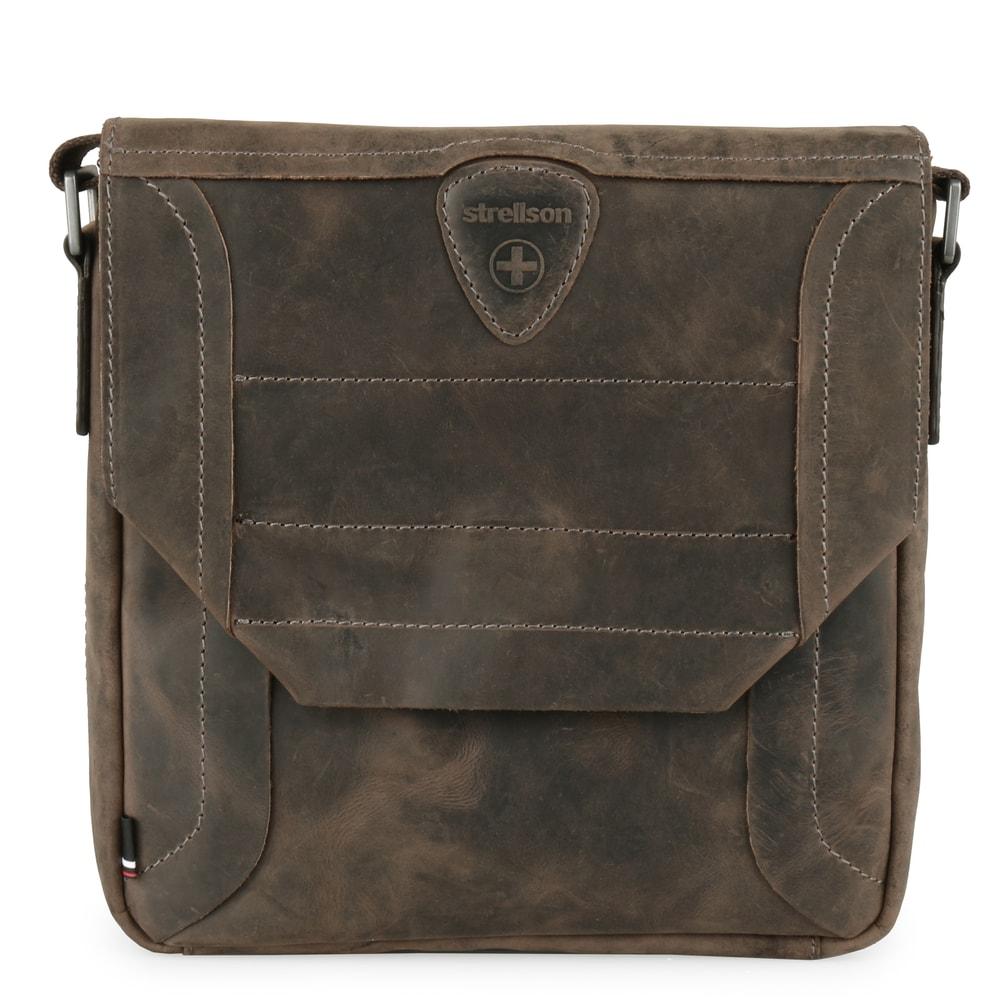 Strellson Pánská kožená taška přes rameno Hunter 4010002562