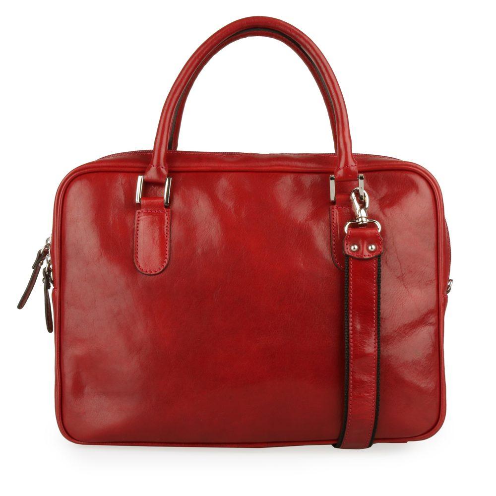 Sněžka Náchod Dámská kožená taška do ruky 5101 - tmavě červená
