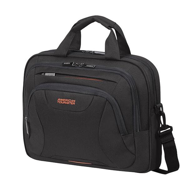 """American Tourister Taška na notebook At Work Laptop Bag 10 l 13.3""""-14.1"""" - černá/oranžová"""
