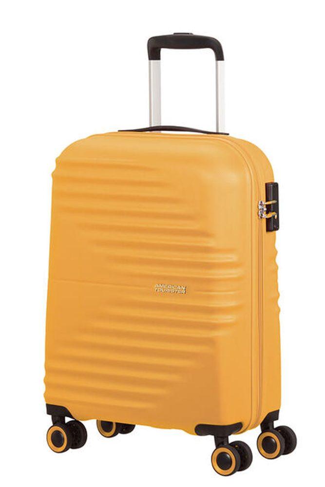 Levně American Tourister Kabinový cestovní kufr Wavetwister 33 l - žlutá