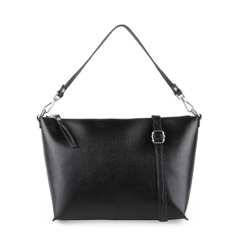 Unidax Dámská kožená kabelka přes rameno Facebag Rachel 8002 - černá