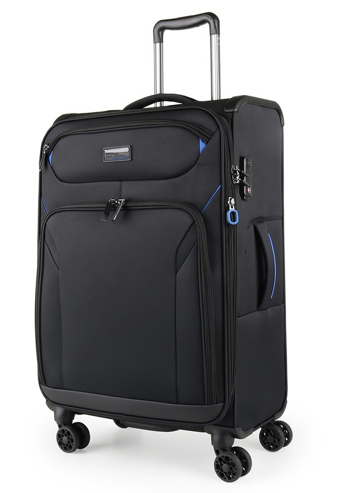 March Látkový cestovní kufr Black Forest M 67/72 l - černá