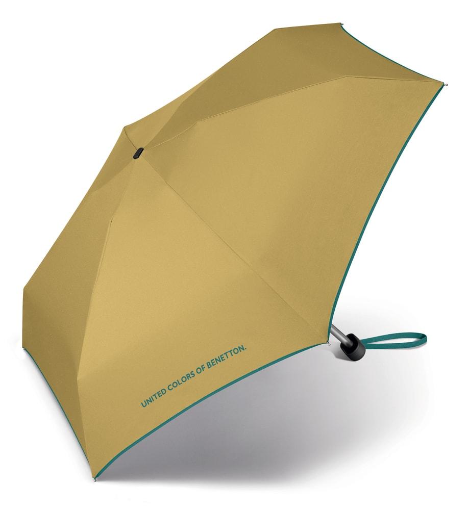 United Colors of Benetton Malý skládací deštník 56404 - žlutá