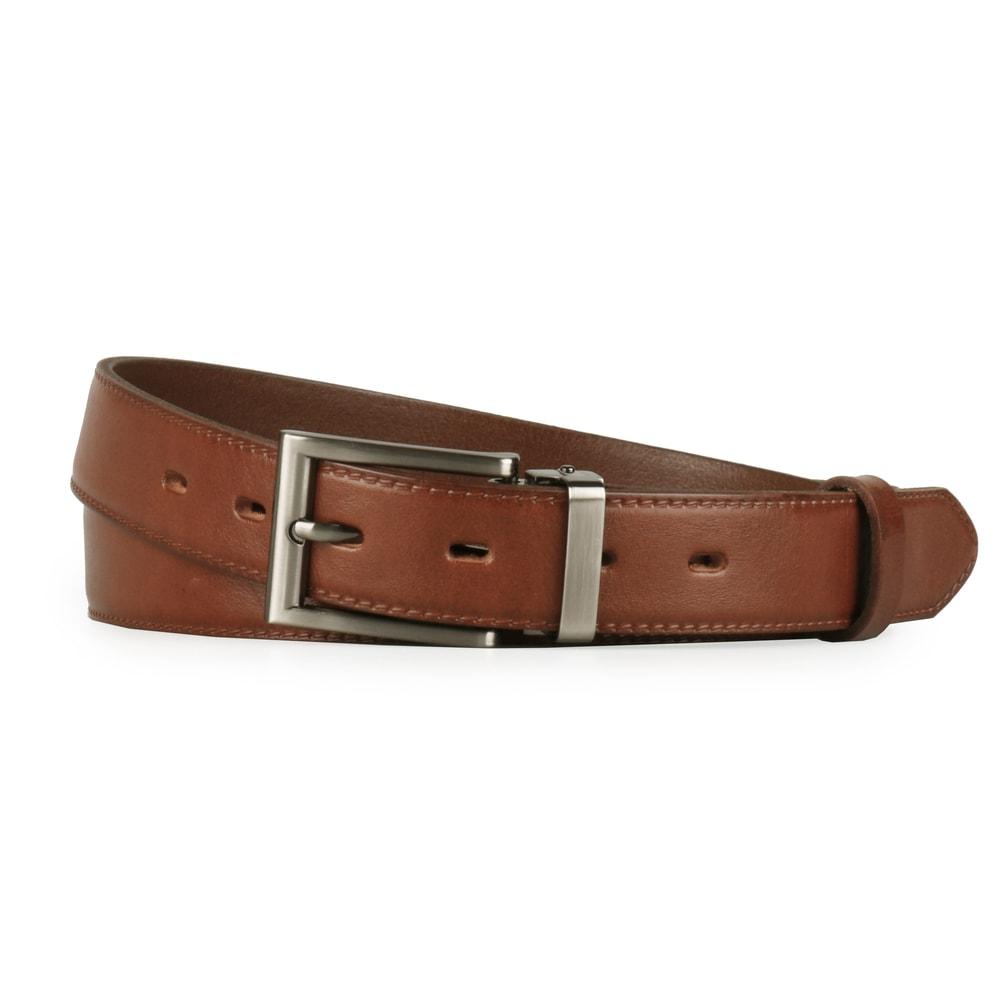 Penny Belts Pánský kožený společenský opasek 30-020-1-48 hnědý - 100