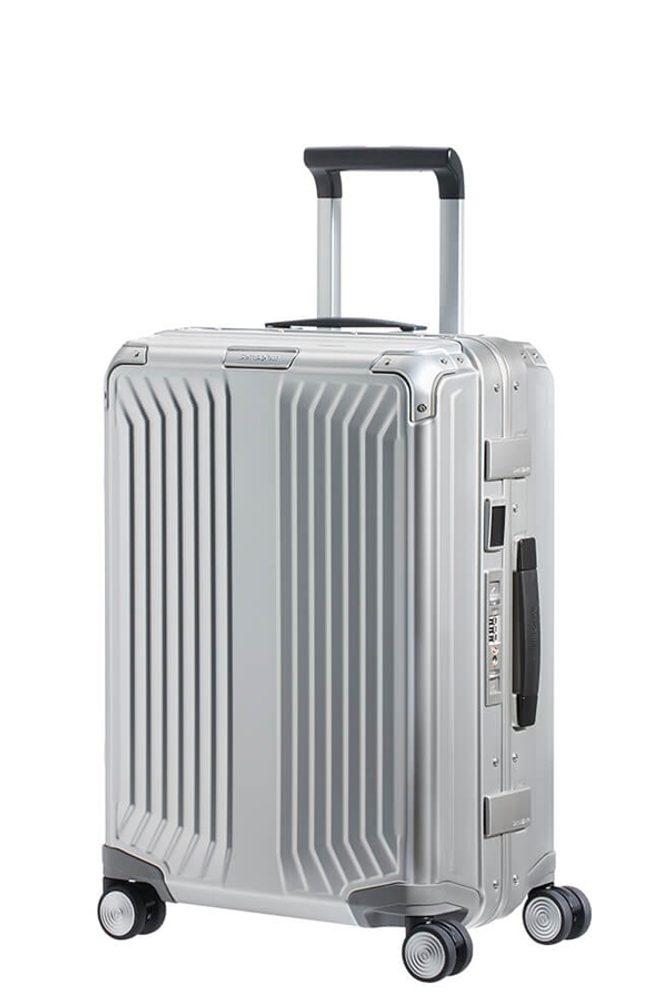 Samsonite Kabinový cestovní kufr Lite-Box Alu S 40 l - stříbrná