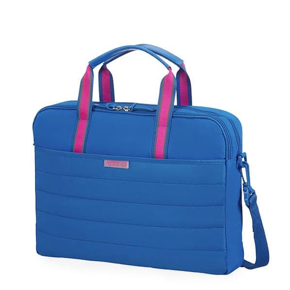 """American Tourister Dámská taška na notebook Uptown Vibes 64G 15.6"""" - modrá"""