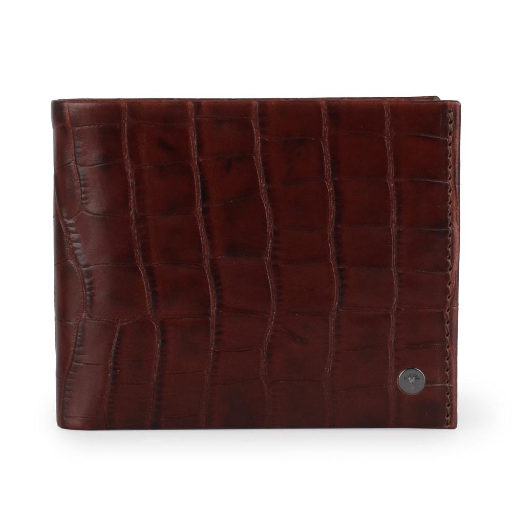 JOOP! Pánská kožená peněženka Typhon Crocco 4140002277 - tmavě hnědá