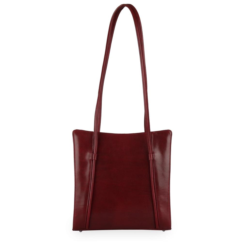 Hajn Dámská kožená kabelka přes rameno 1056015 - vínová
