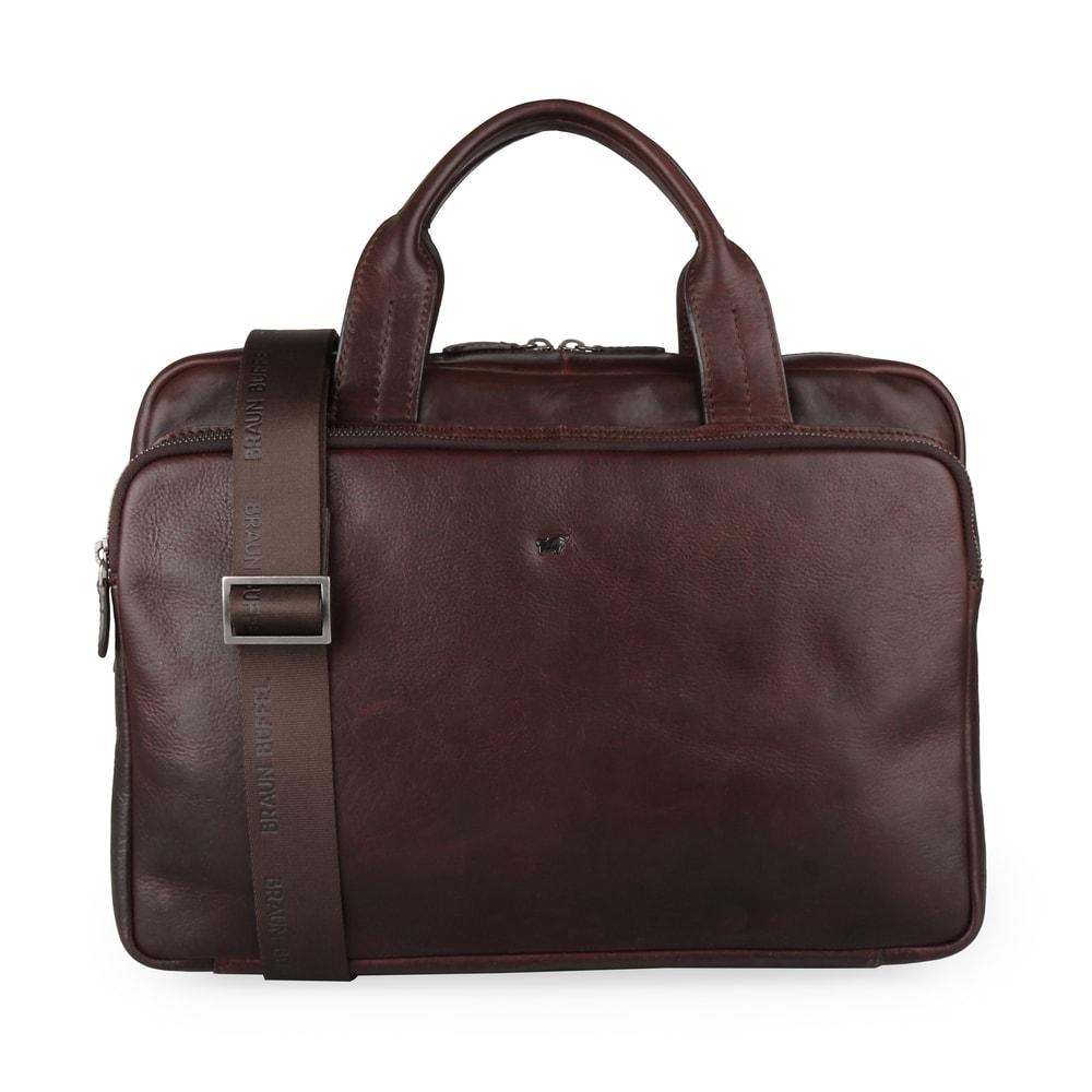 Braun Büffel Pánská kožená taška přes rameno Parma 75365-662 - tmavě hnědá