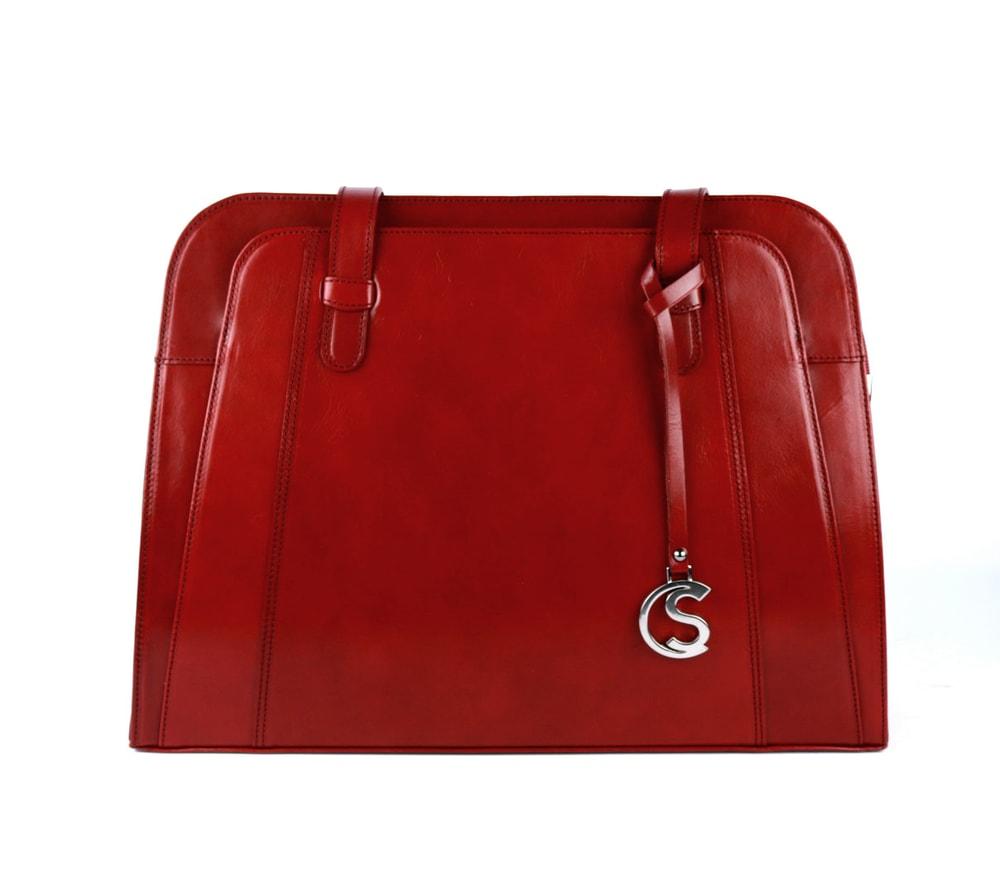 Sněžka Náchod Dámská kožená kabelka přes rameno 5056 - červená