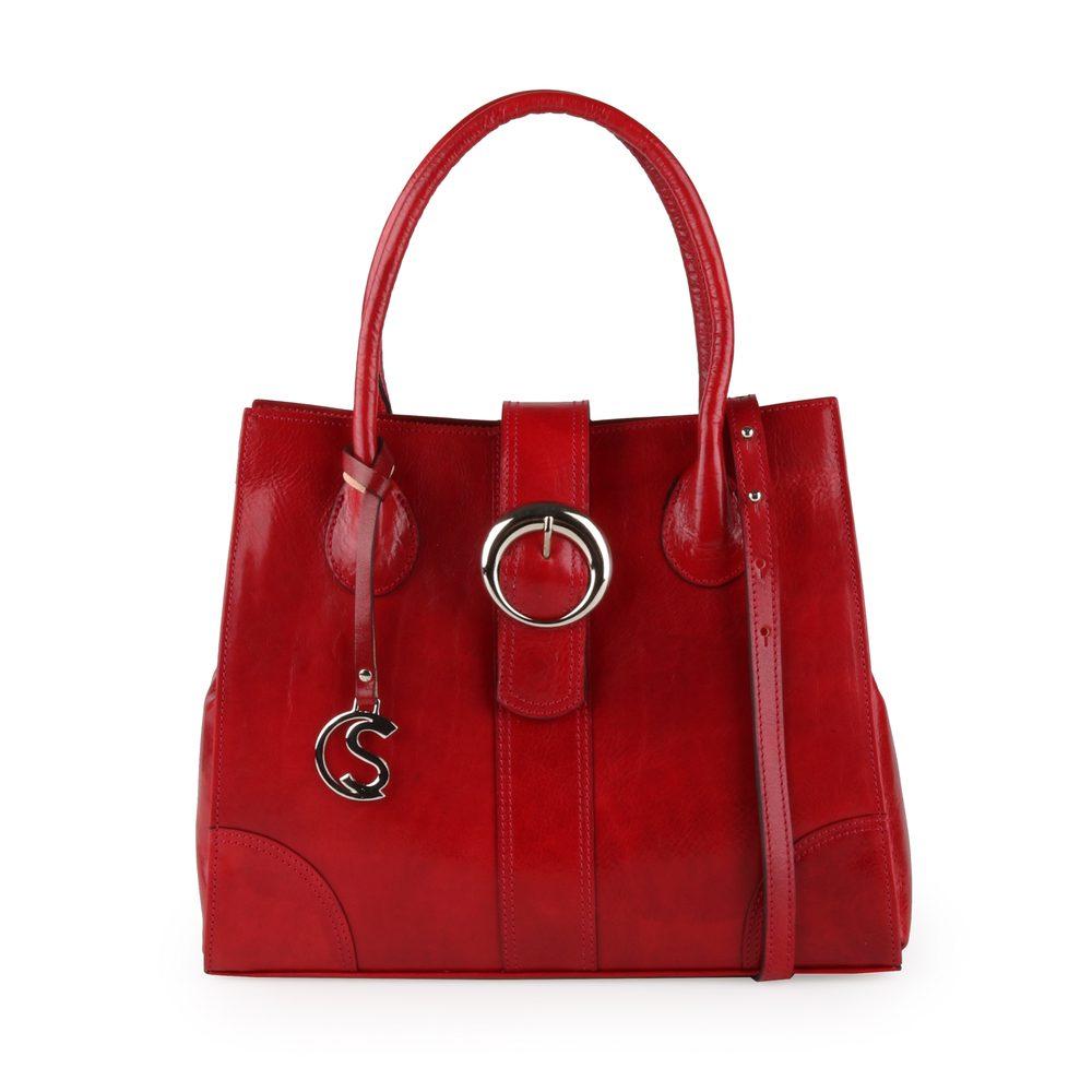 Sněžka Náchod Dámská kožená kabelka do ruky 5068 - červená