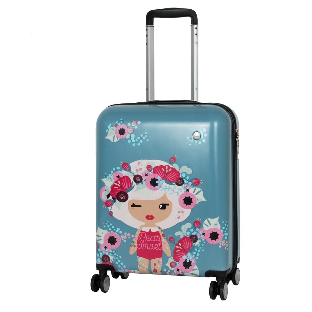 Travelite Kabinový cestovní kufr Lil' Ledy 4w S hardcase Grey/blue