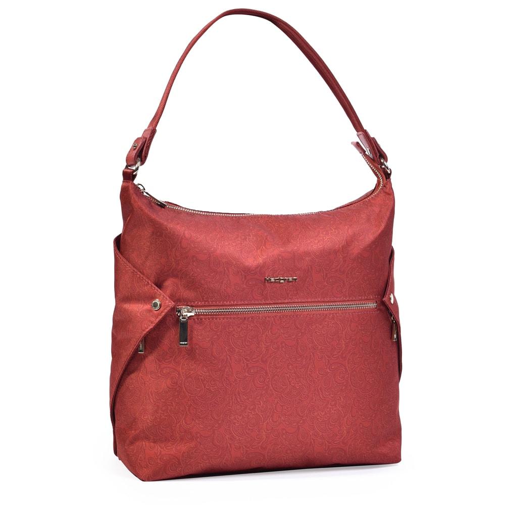 Hedgren Dámská kabelka přes rameno Oblique Hobo HPRI05 - tmavě červená