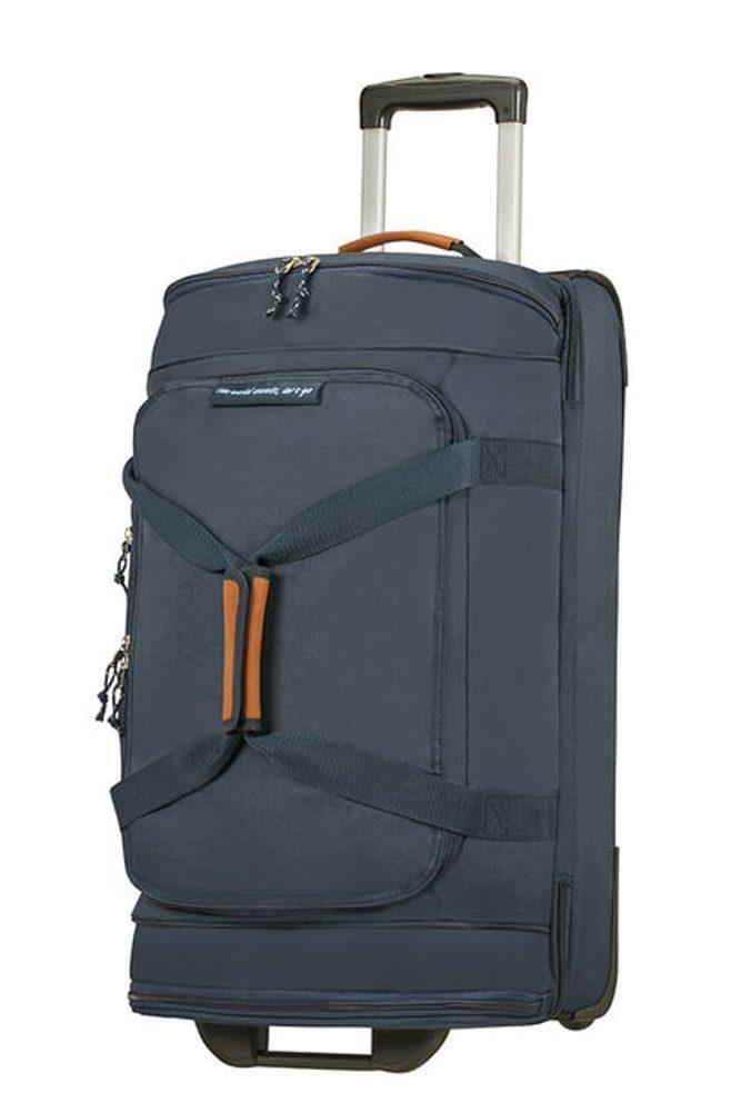 American Tourister Látková cestovní taška na kolečkách Alltrail M 75,5 l - tmavě modrá