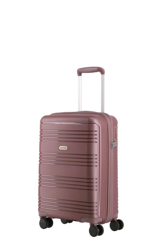 Travelite Kabinový cestovní kufr Zenit S Dark Rose 36 l