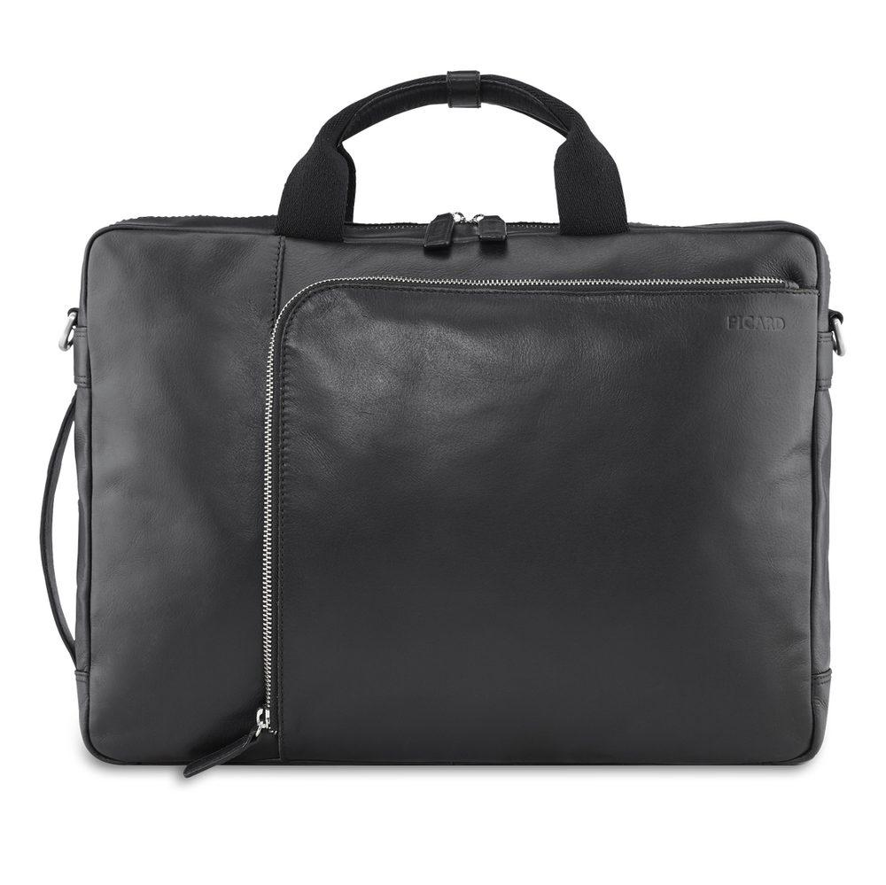 Picard Pánská kožená taška a batoh 2v1 Buddy 4505 - černá